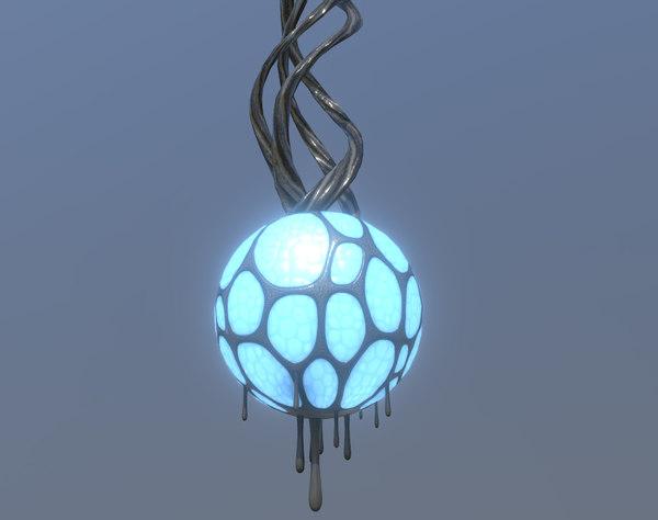 3D lamp organic