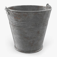 old metal bucket 3D model
