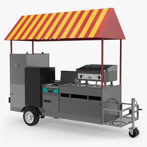 limo hot dog cart 3D