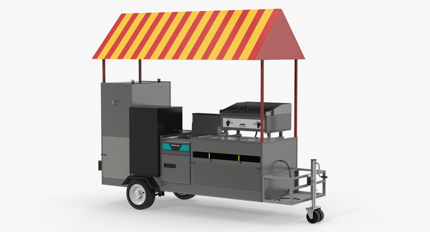 limo hot dog cart 3D