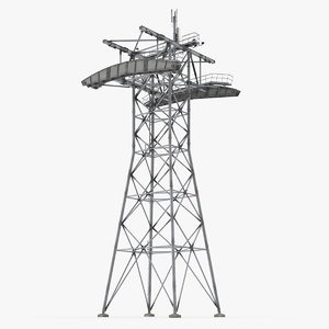 3D model gondola lift tower
