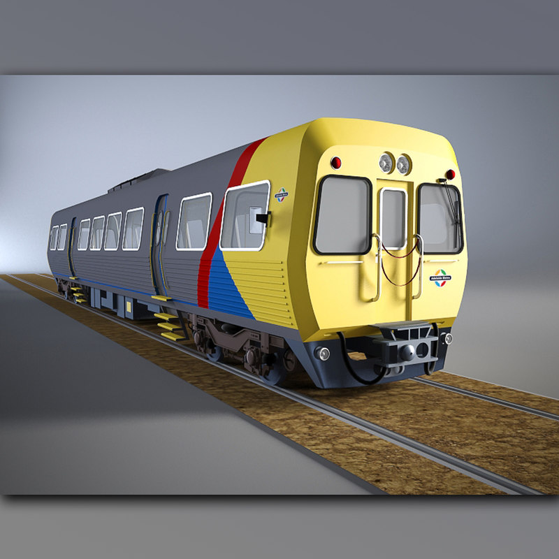 diesel railcar 3100 class 3D model