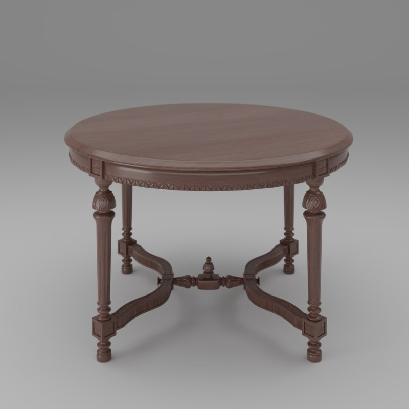 3D carved table model