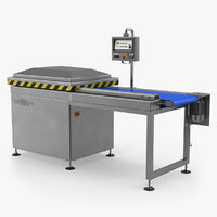 Vacuum Packaging Machine with Conveyor 3D Model
