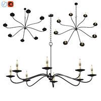 lucca chandelier 3D