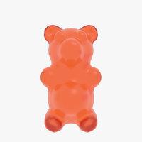 3D model jelly gummy bears