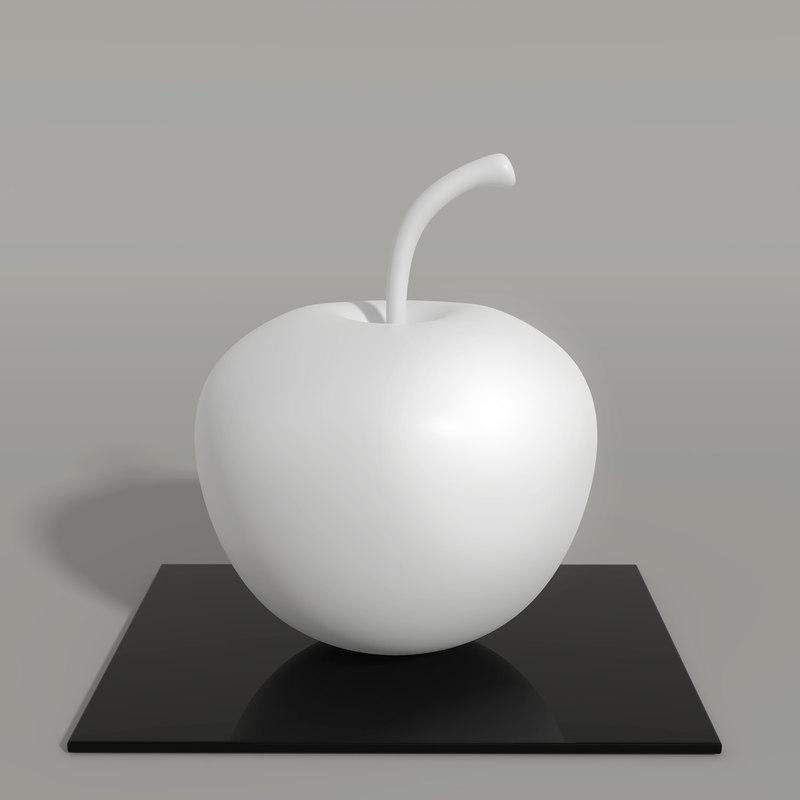3D apple table decor model