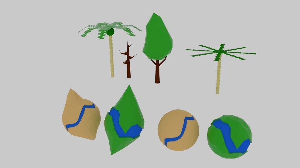 3D planet tree