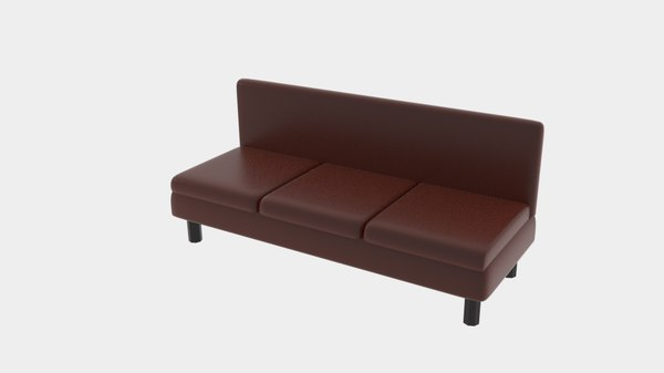 3D brown sofa