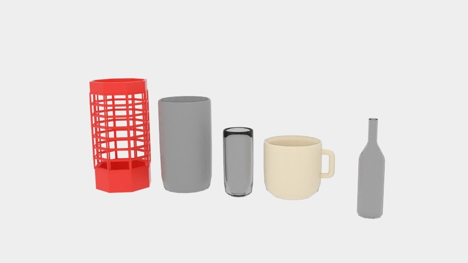 3D cylinder object pack