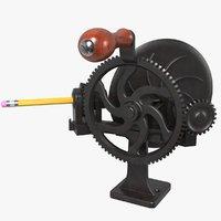 hand pencil sharpener 3D model