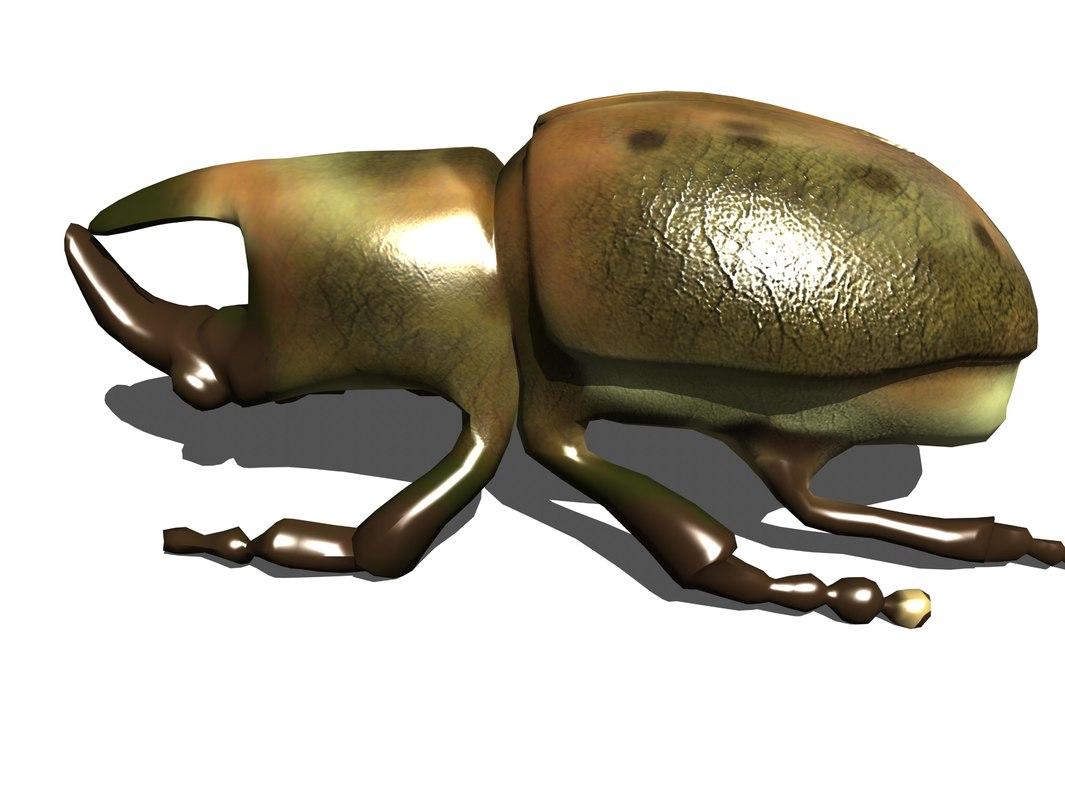 3D rhino beetle