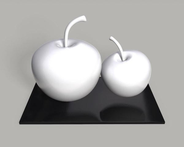 3D apple table decor set