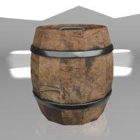 3D old barrel realtime games