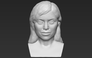 3D kylie jenner bust ready model