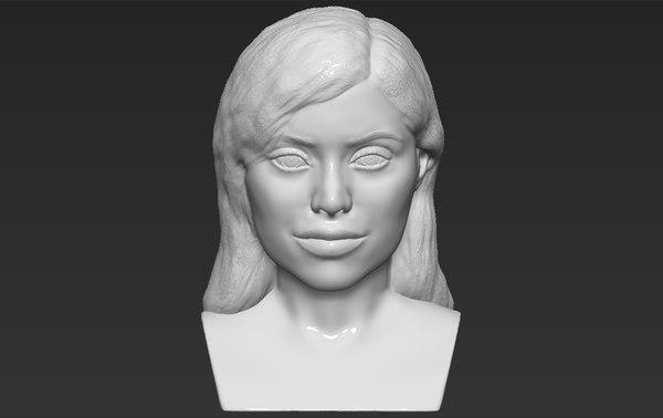 3D kylie jenner bust ready model