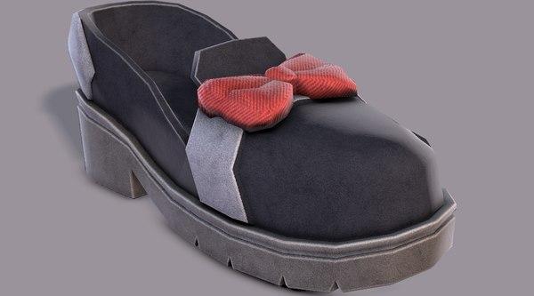 3D shoes cartoonv08 character cartoon model