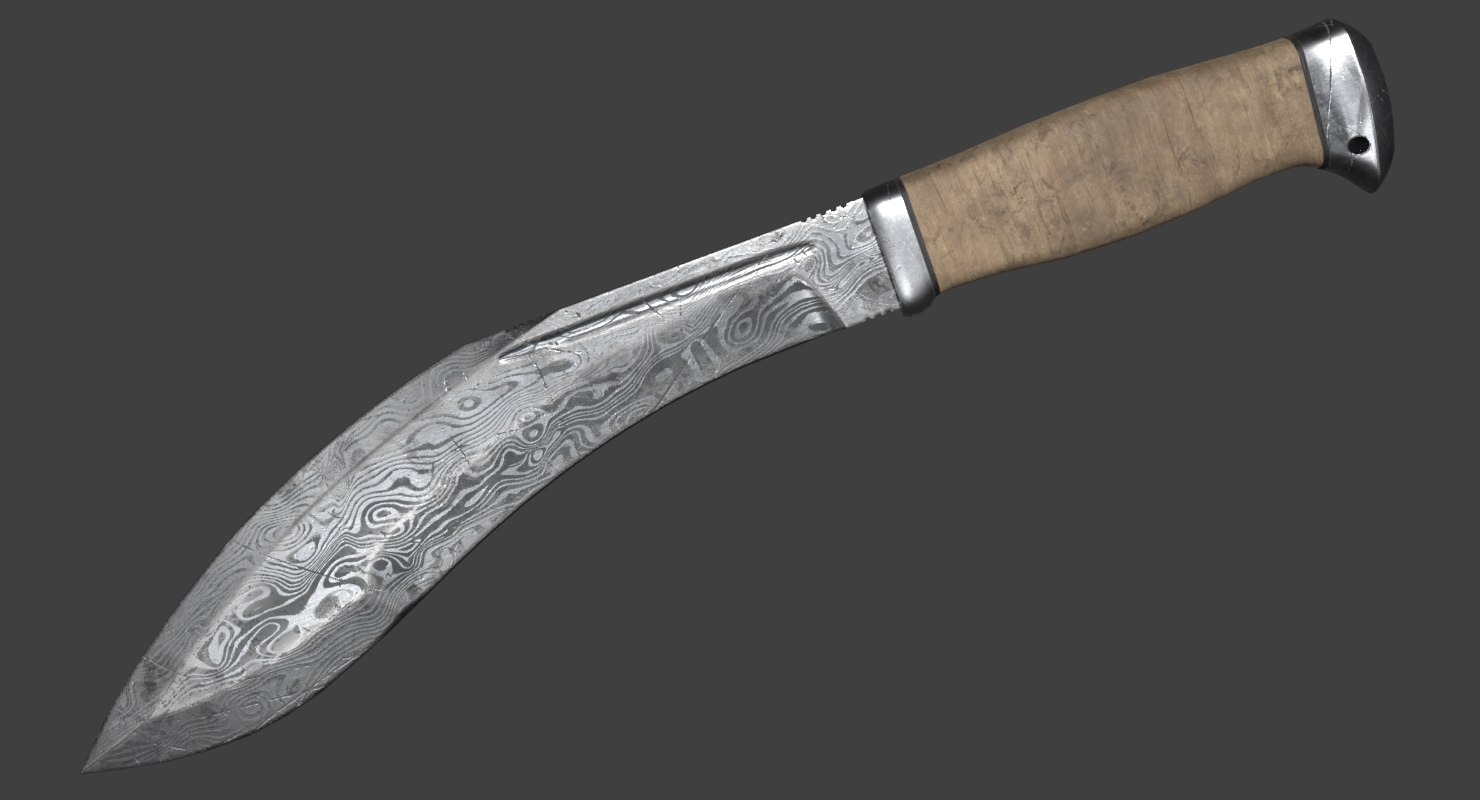 pbr damascus steel 3D model