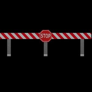 3D road block