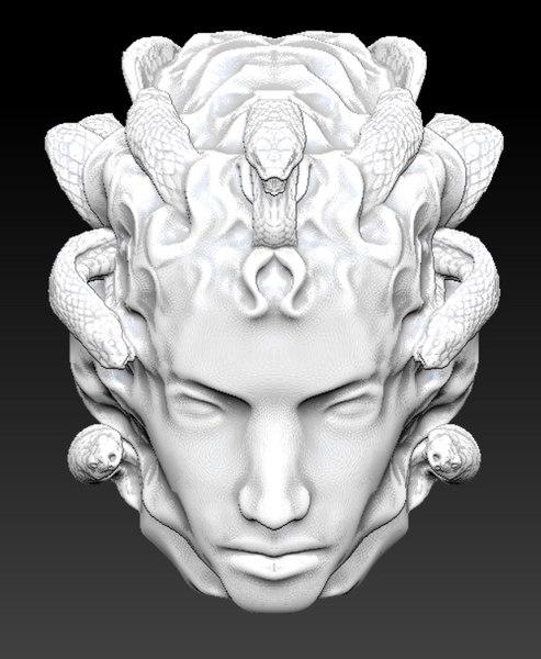 3D medusa rondanini head