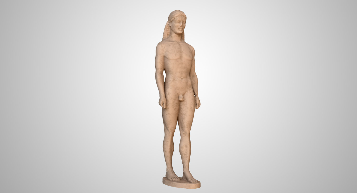 3D model statue kouros