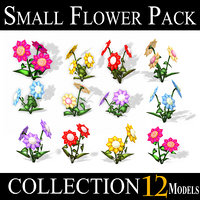 small flower pack - 3D model