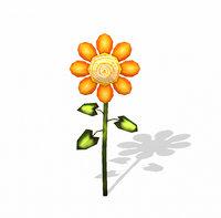 orange flower 3D