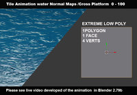 3D ready maps animation water