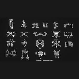 sci-fi hardware 3D model