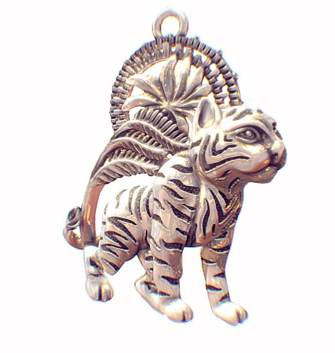 pendant little tiger 3D