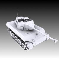 american hellcat tank 3D model
