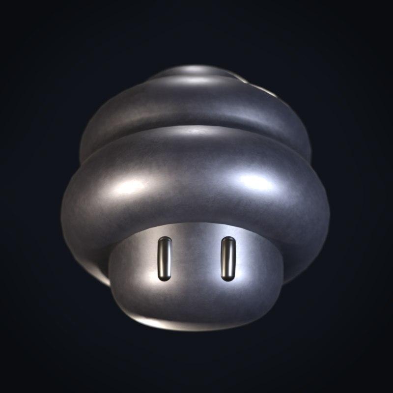spring mario mushroom power 3D