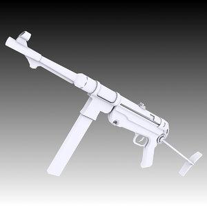 3D mp40 model
