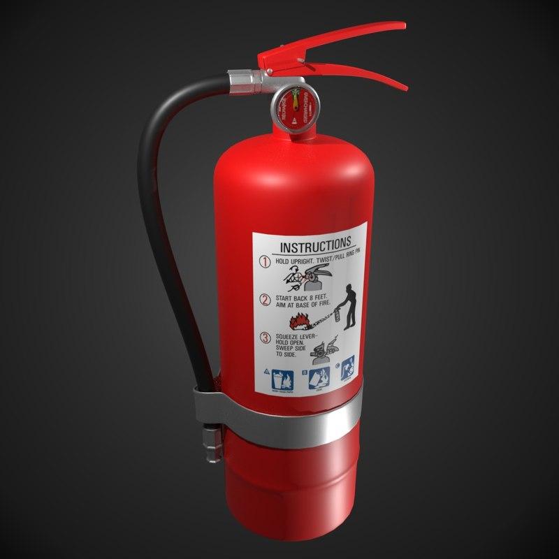 3D model extinguisher blender