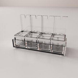 acrylic spice container model