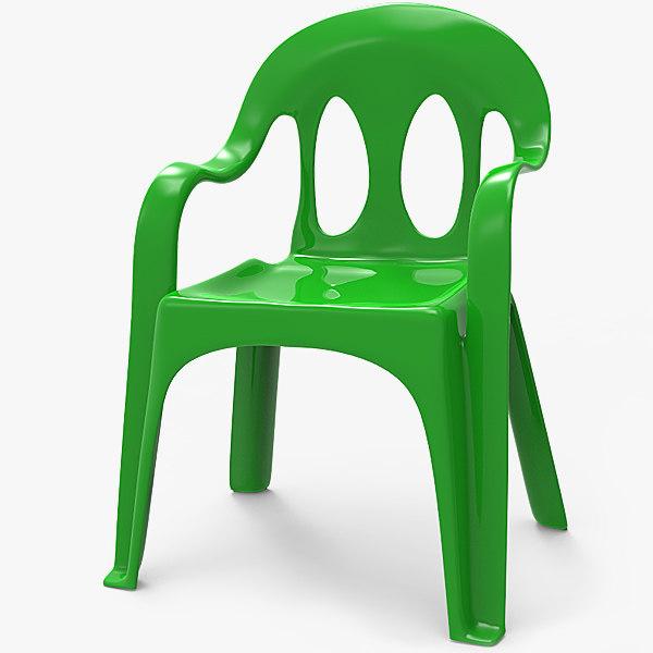 3D plastic chair monobloc