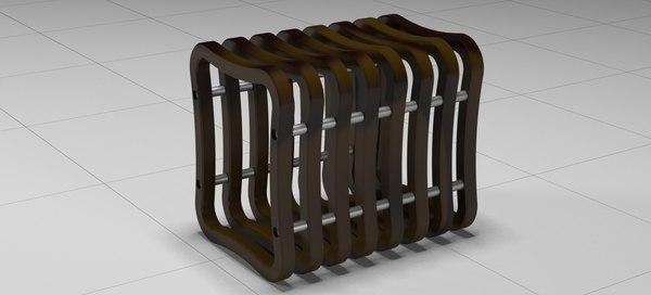 modern stool storage 2018 3D model