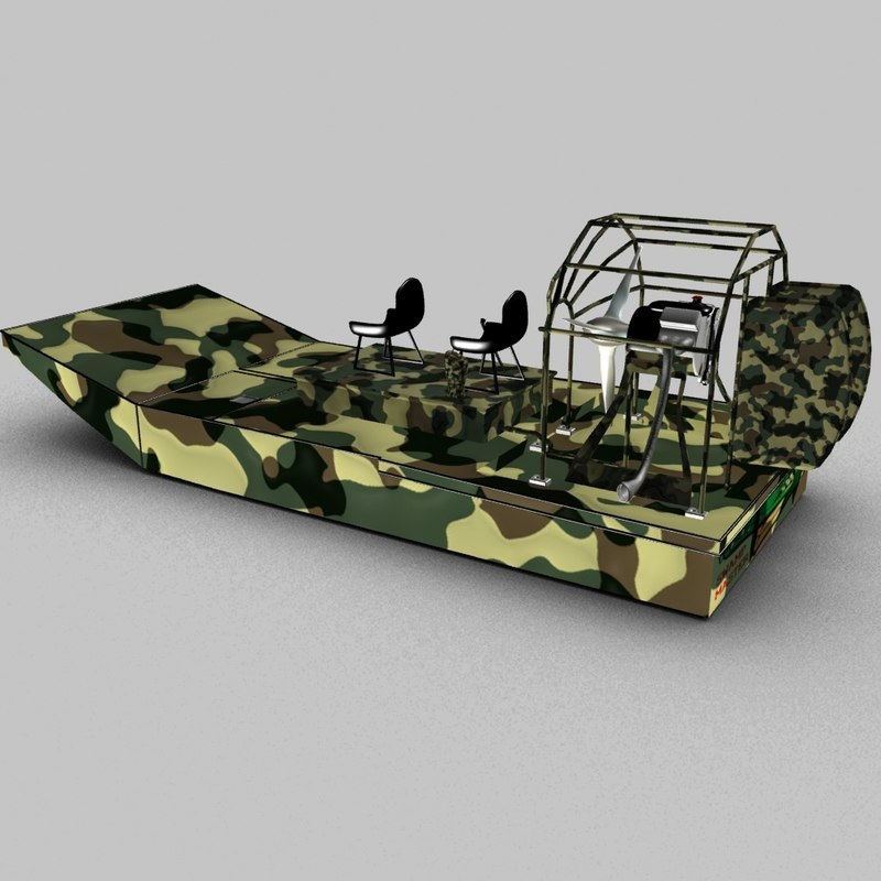 3D swamp airboat