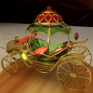 3D chinese carriage model