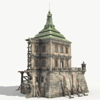 renaissance ruined castle 3D model