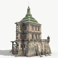 renaissance ruined castle 3D model