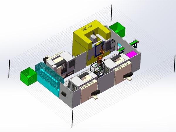 cnc center loading 3D