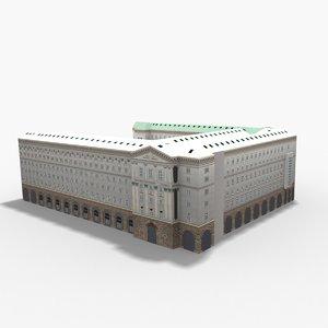 council ministers sofia bulgaria 3D