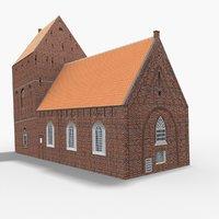 3D leaning tower suurhusen germany