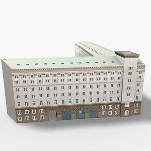 presidency building sofia bulgaria 3D