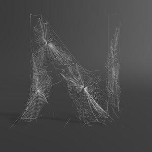 web letter n model