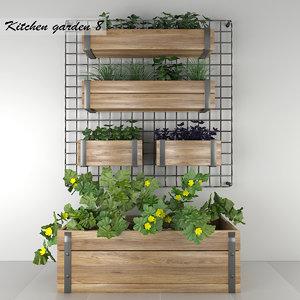decorative garden kitchen 3D