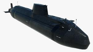 hms anson submarine 3D model