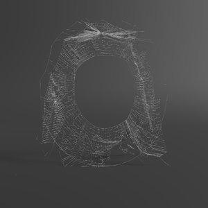 web letter o 3D
