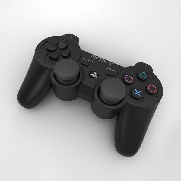 3D sony 3 playstation model